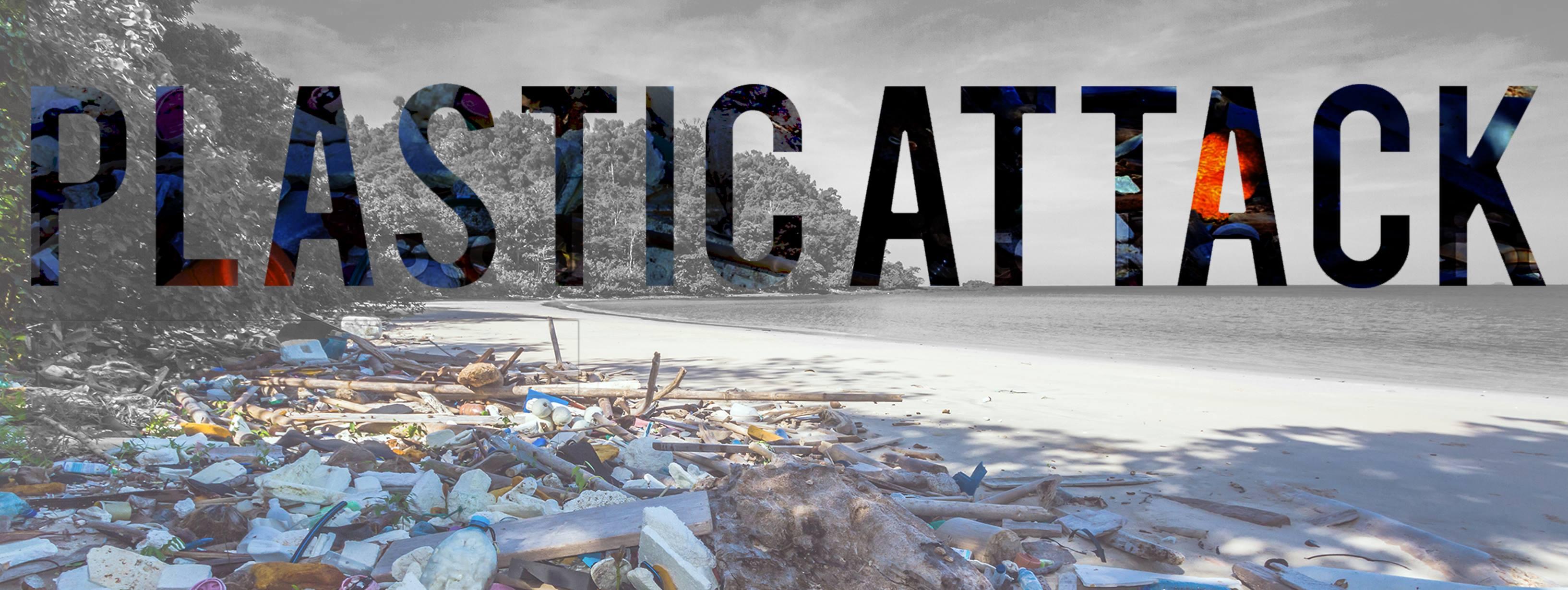 Plastic Attack laat overtollig plastic achter in de supermarkt