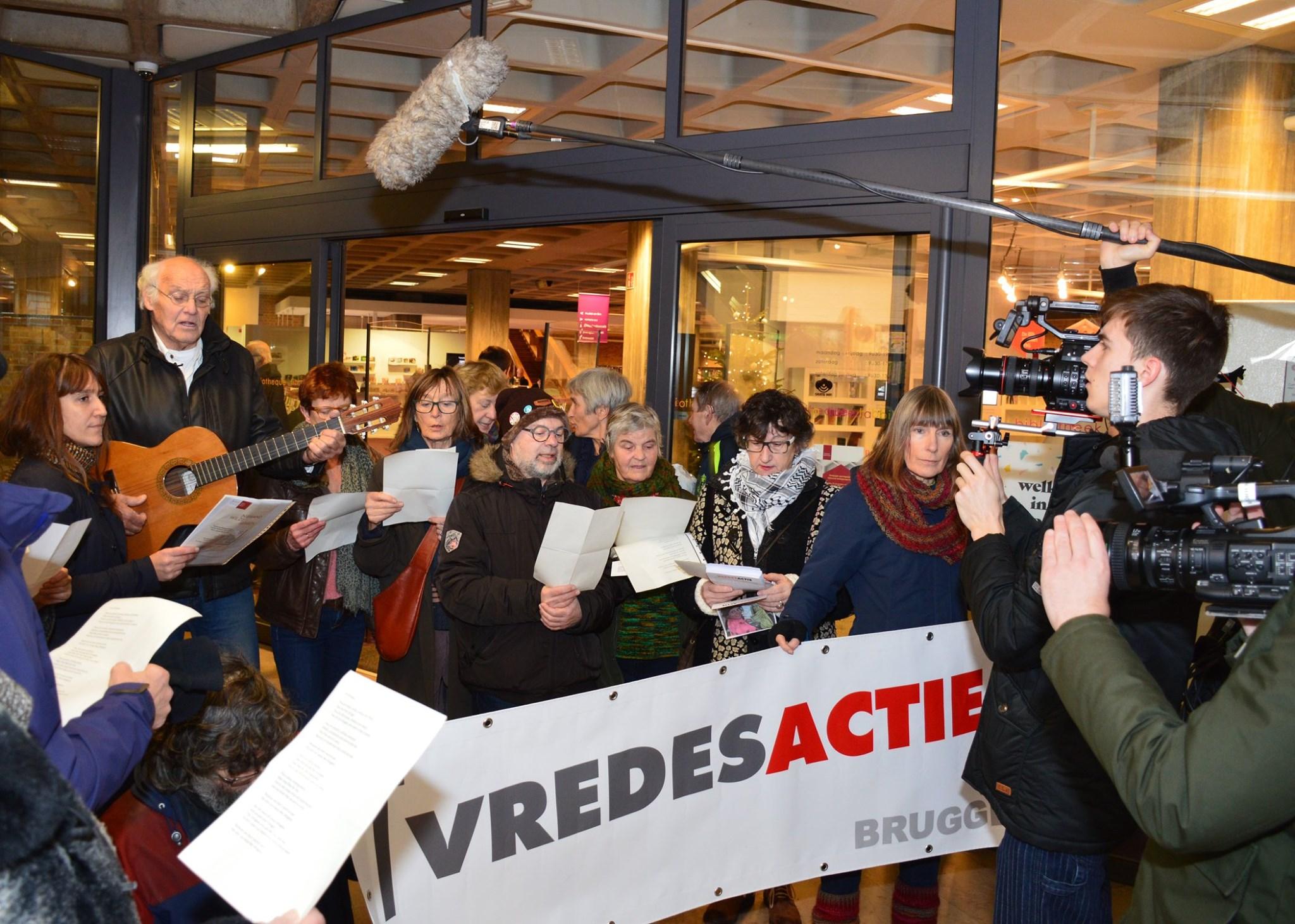 Vredesactie houdt herdenking voor verdronken vluchteling